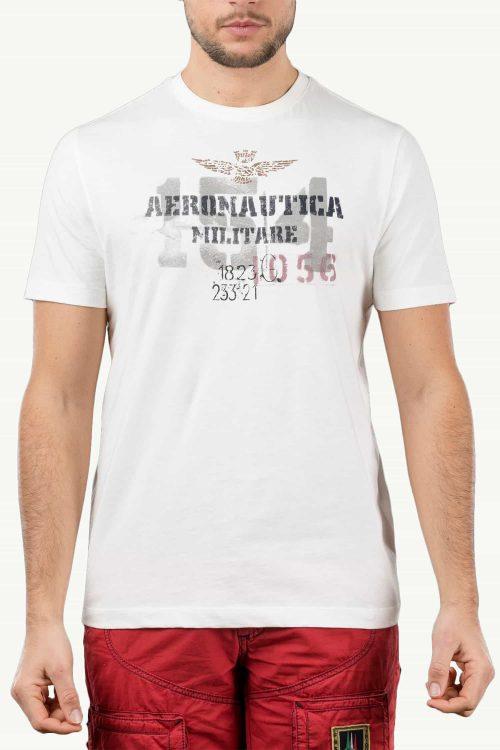 T-shirt da uomo bianco a maniche corte
