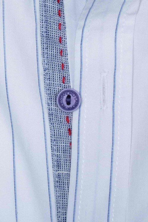 Camicia uomo in cotone modello slim fit collo coreana