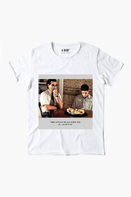 T-shirt au reverse uomo girocollo, manica corta, stampa American Pie