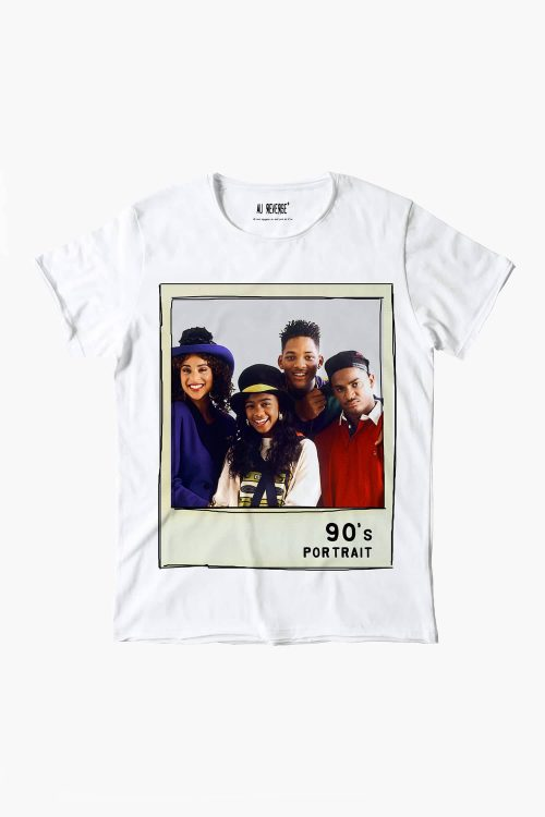 T-shirt au reverse uomo girocollo, manica corta, stampa anni 90 Principe di Bel Air