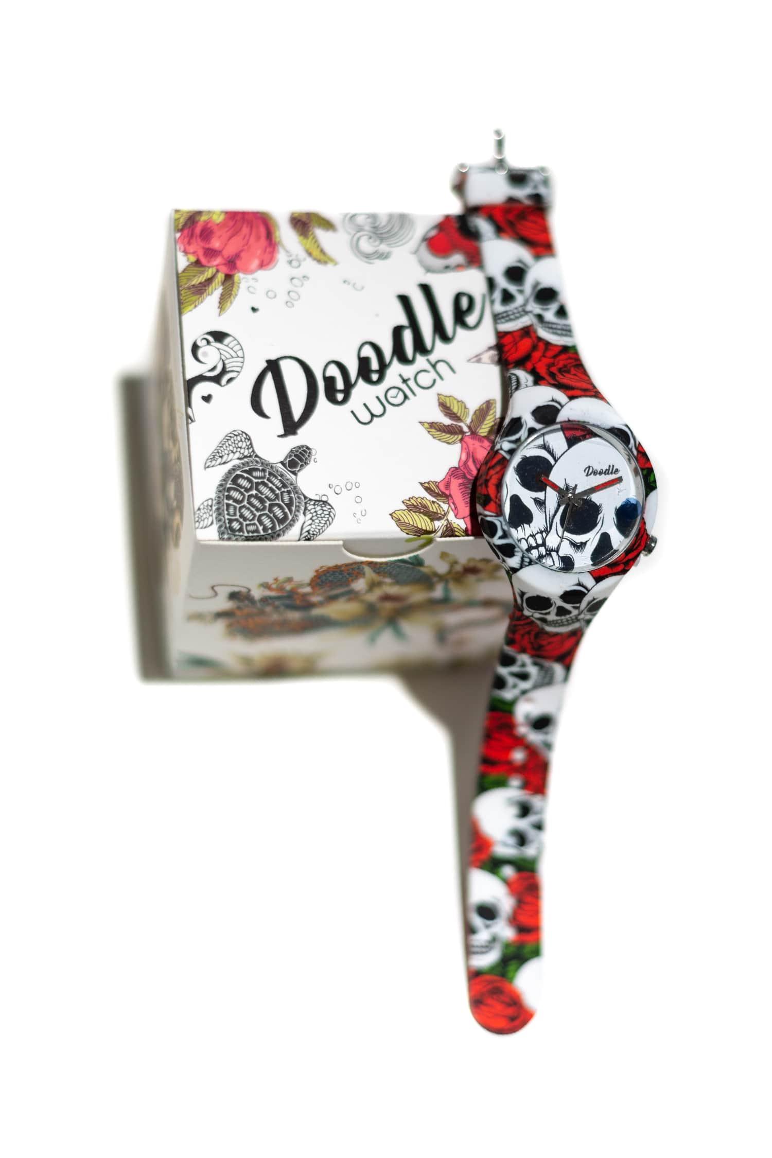 Orologio unisex Doodle Watch fantasia skull