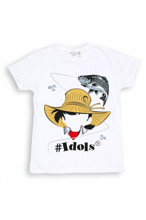 T-shirt tee4two bambino girocollo, manica corta, stampa Idols Sampei