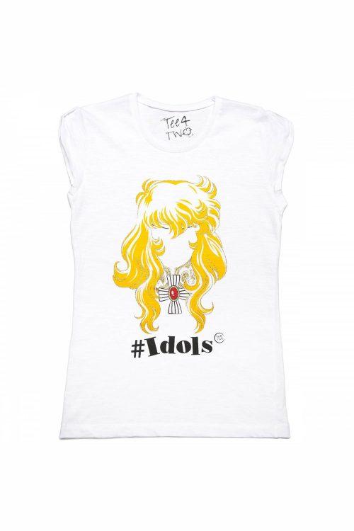 T-shirt tee4two donna girocollo, manica corta, stampa Idols Lady Oscar
