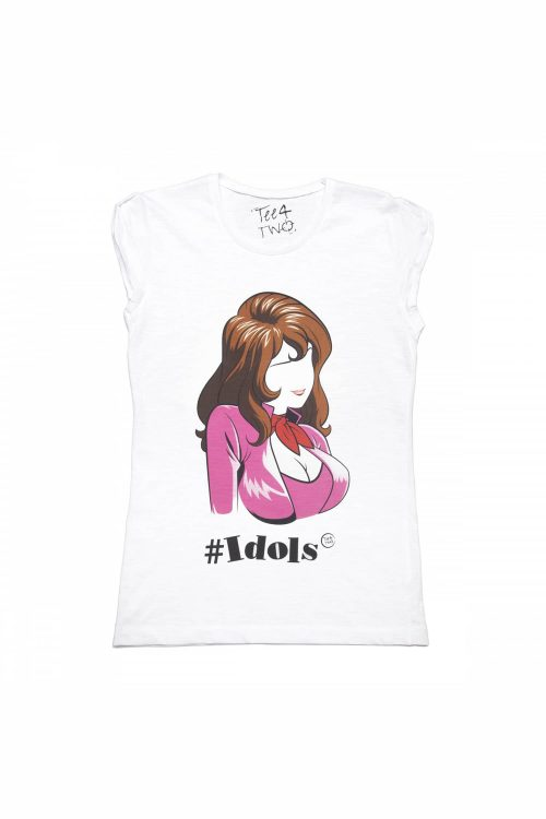 T-shirt tee4two donna girocollo, manica corta, stampa Idols Margot