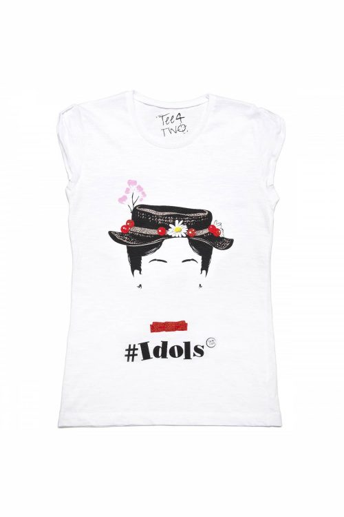 T-shirt tee4two donna girocollo, manica corta, stampa Idols Mary Poppins
