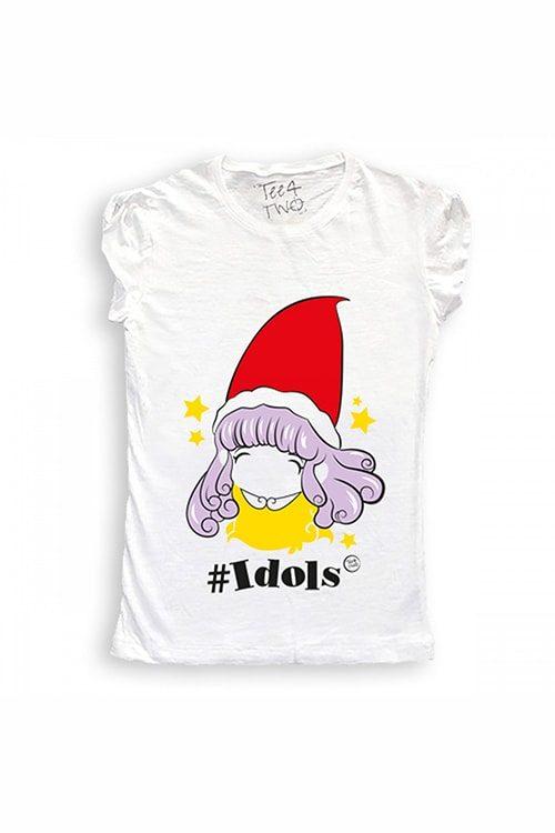 T-shirt tee4two donna girocollo, manica corta, stampa Idols Memole
