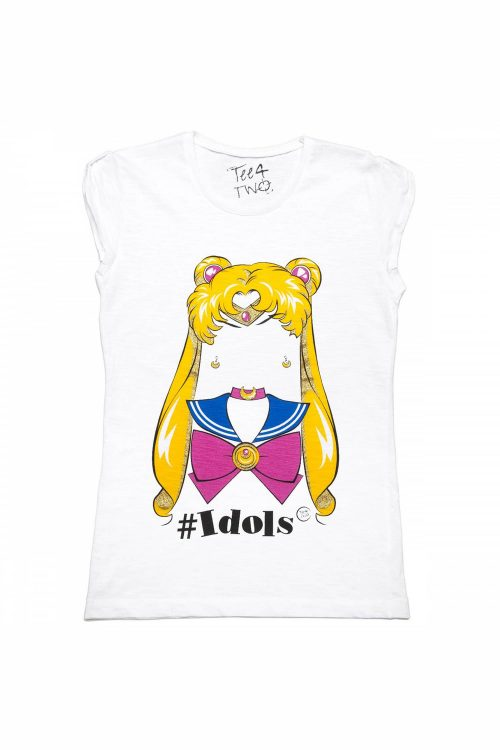 T-shirt tee4two donna girocollo, manica corta, stampa Idols Sailor Moon