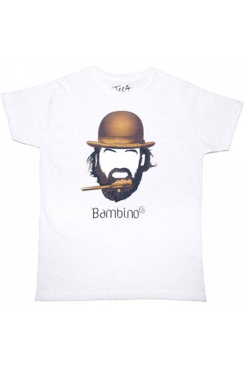 T-shirt tee4two uomo girocollo, manica corta, stampa Bud Spencer