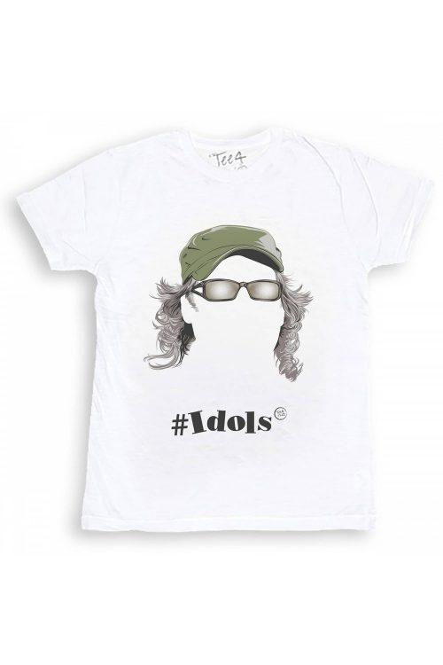 T-shirt tee4two uomo girocollo, manica corta, stampa Idols Vasco Rossi