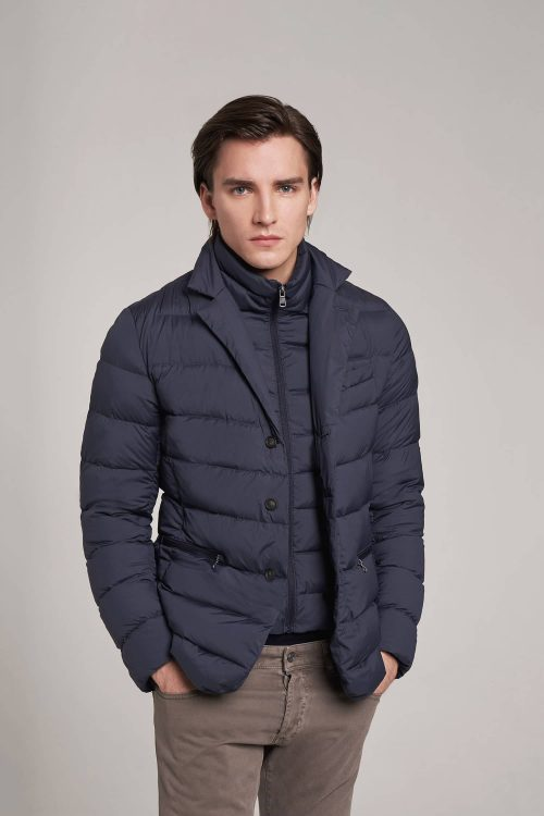 Colmar blazer stretch in piumino naturale navy blu uomo