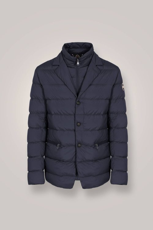 Colmar blazer stretch in piumino naturale navy blu uomo