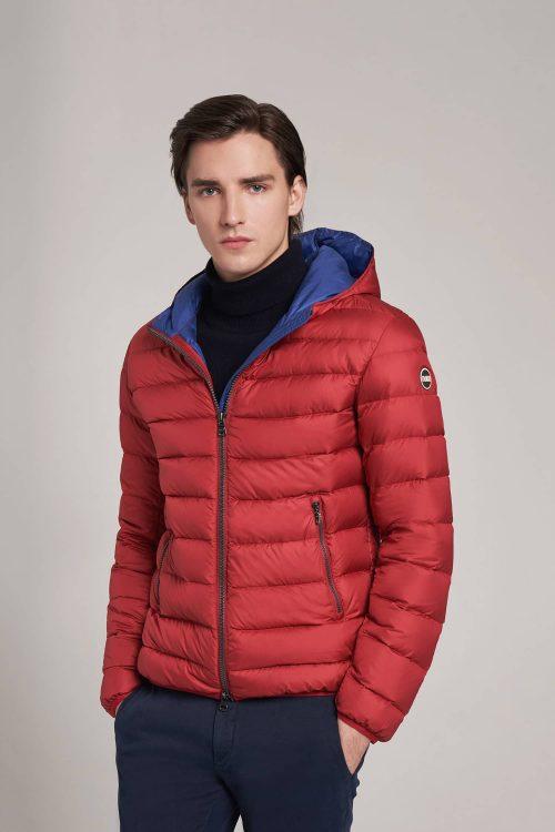 Colmar piumino sportivo con cappuccio fisso rosso uomo