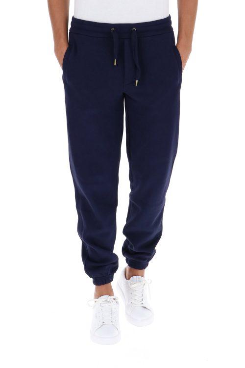 Sun 68 Pantaloni tuta tinta unita elasticizzati blu navy uomo