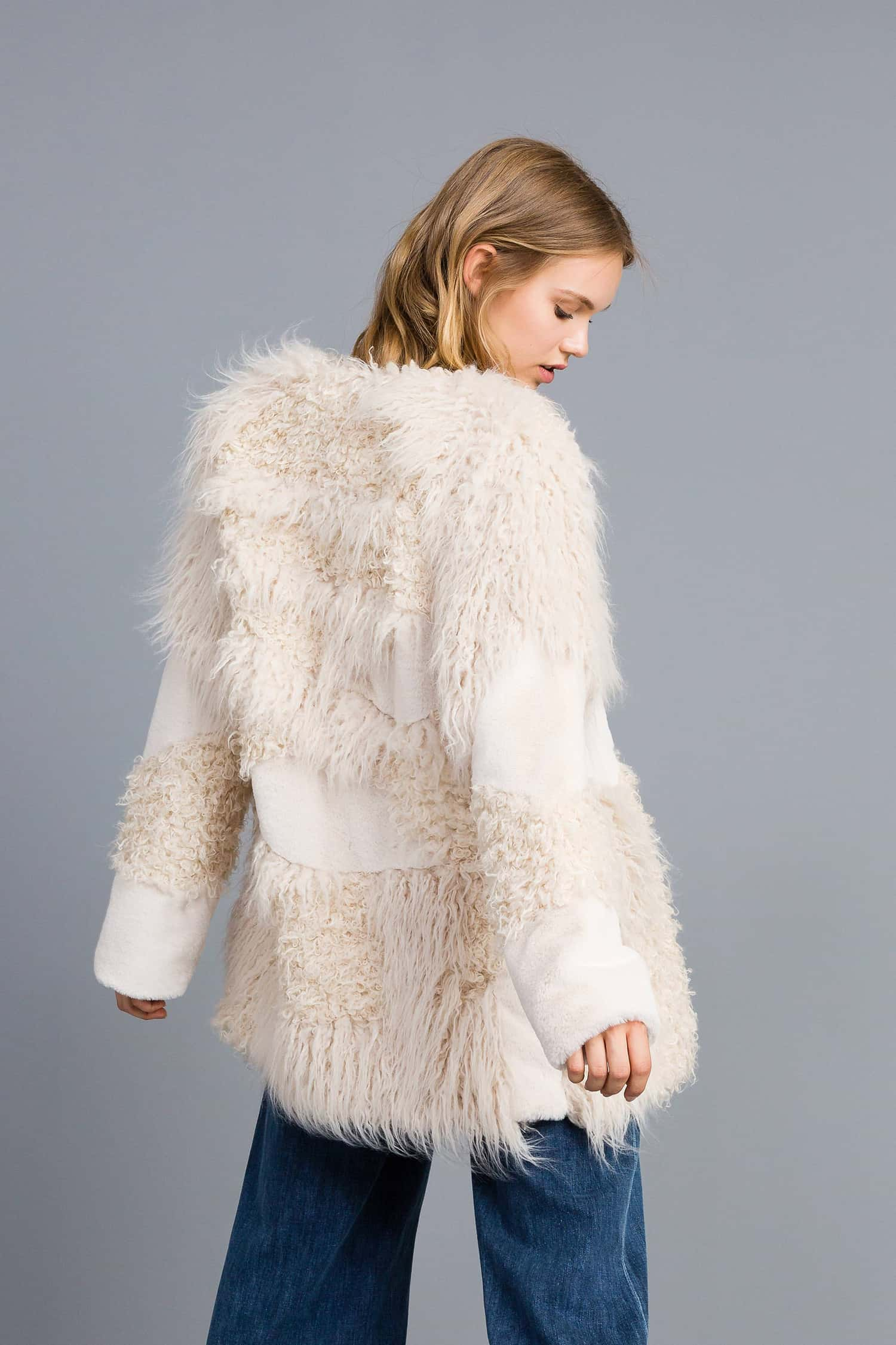 premium selection d90c8 2cd84 Twinset Cappotto in similpelliccia patch