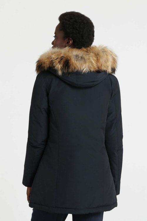 Woolrich arctic parka con pelliccia navy blu donna