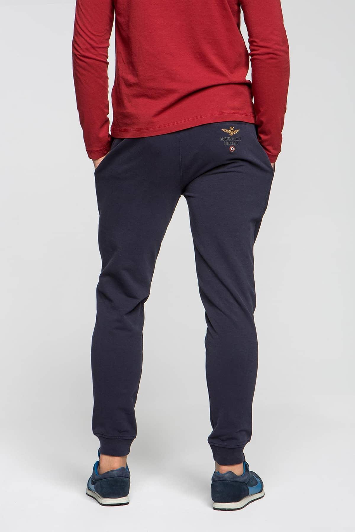 Vendita di liquidazione Promozione delle vendite la più grande selezione Aeronautica Militare Pantaloni tuta tinta unita elasticizzati
