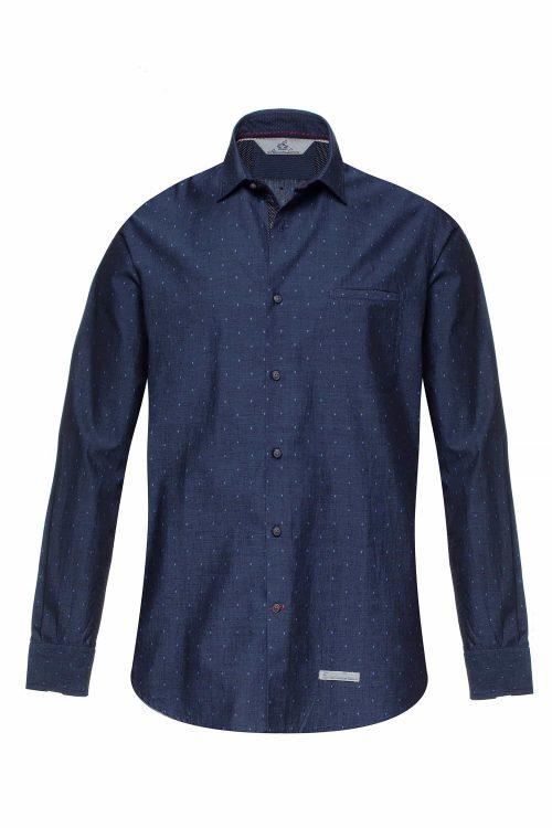 Alessandro Lamura camicia bernina blu uomo