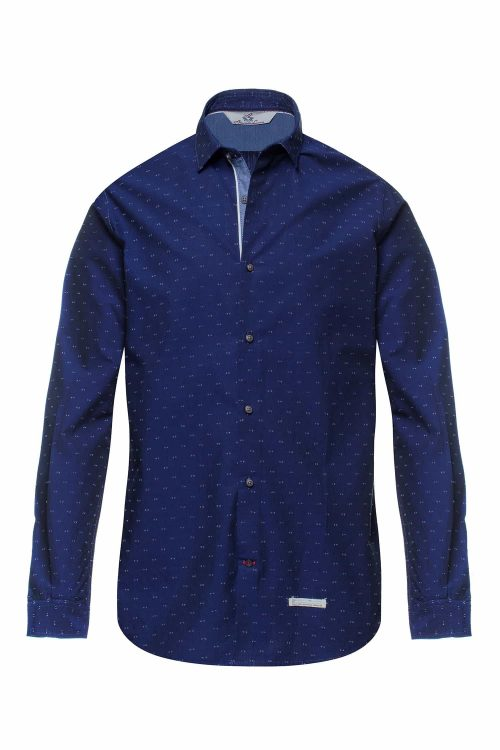 Alessandro Lamura camicia elsa blu uomo