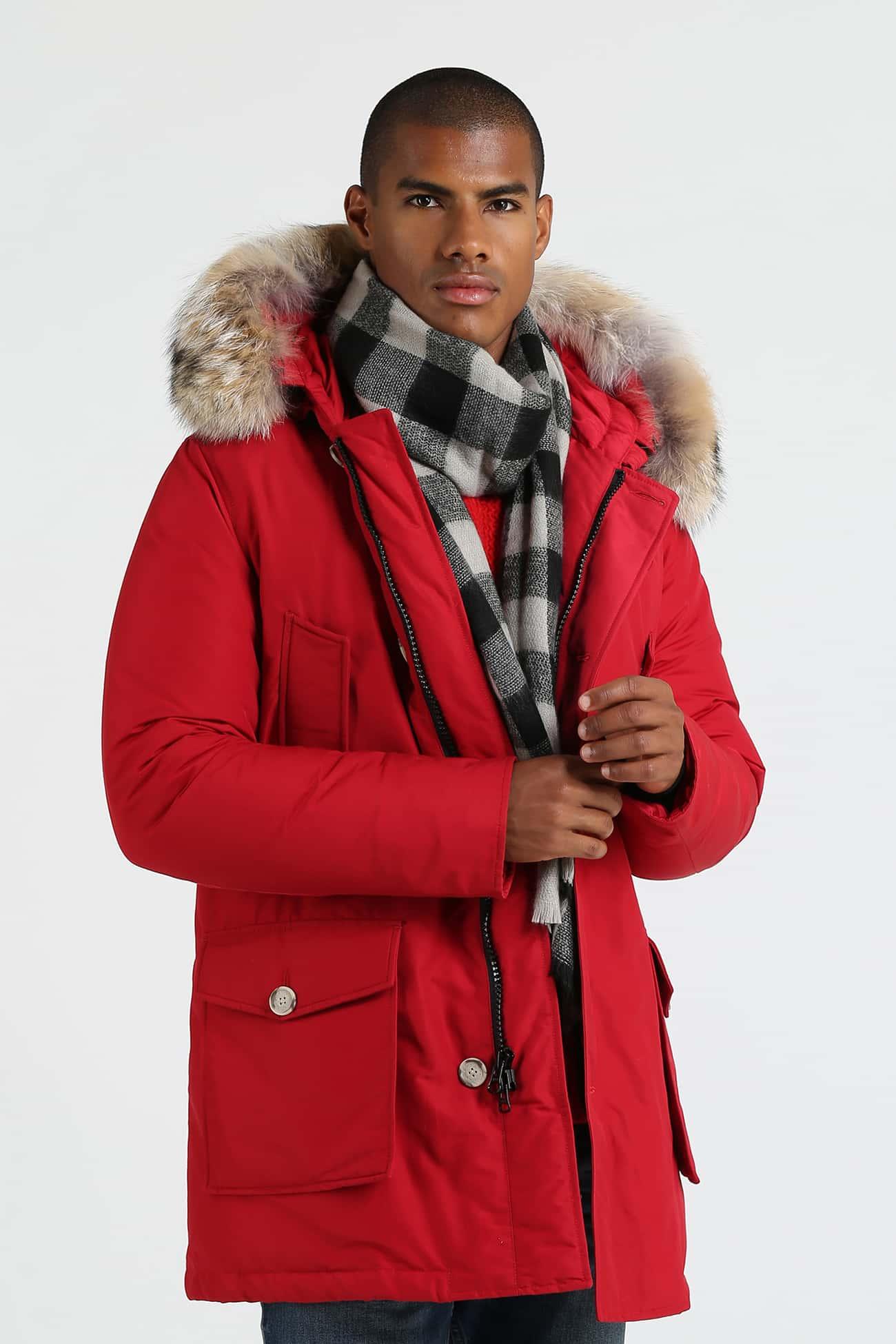Woolrich Arctic Parka Df rosso uomo